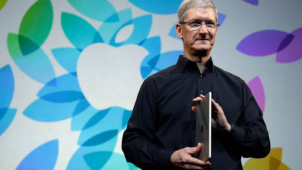 Глава Apple Тим Кук во время презентации iPad Air в Сан-Франциско. Фото AP Photo/Marcio Jose Sanchez