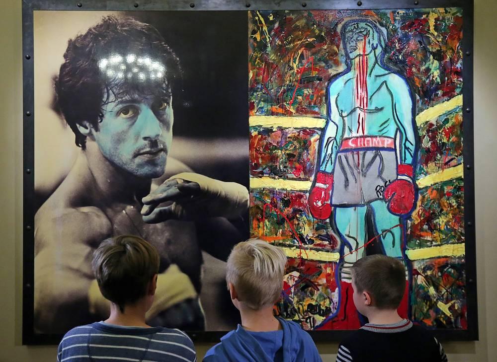 Выставка живописи Сильвестра Сталлоне в Русском музее.