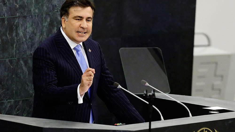 Во время выступления на 68-й Генассамблее ООН Михаил Саакашвили подверг резкой критике российские власти и политику России на постсоветском пространстве. Фото AP Photo/Frank Franklin II