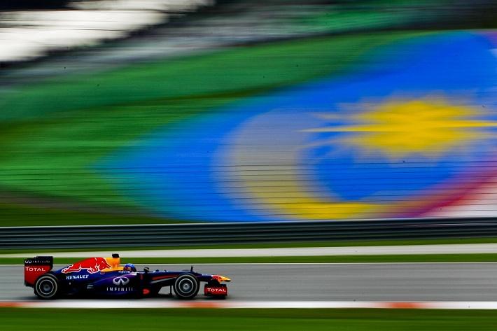 Немец во время гонки в Малайзии