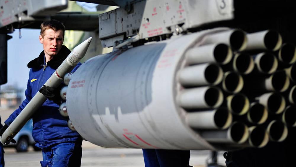 Блок неуправляемых авиационных ракет вертолета Ка-52. Фото ИТАР-ТАСС/ Юрий Смитюк