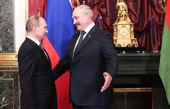 Vladimir Putin and Alexander Lukashenko (archive)