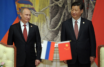 Russian President Vladimir Putin and his Chinese counterpart Xi Jinping
