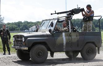 Украинские военные под Донецком, 24 июня 2014 года
