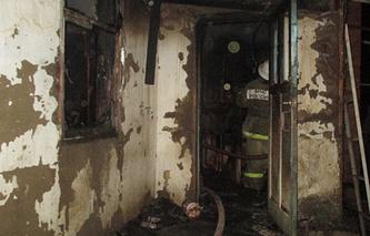 На месте пожара в станице Холмская, 8 октября
