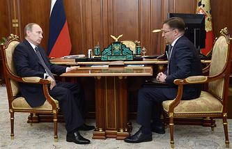 Владимир Путин и Алексей Алешин