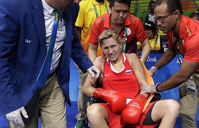 Russian Anastasiia Beliakova wins women's light (57-60 kg) boxing bronze
