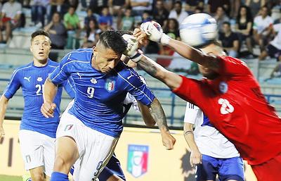 Сборная Италии по футболу забила восемь мячей команде Сан-Марино в товарищеском матче