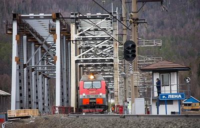 Строительство железнодорожного моста через реку Лена планируется завершить в 2017 году
