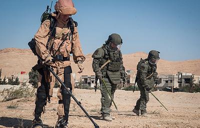 Противоминный центр ВС РФ подготовил более 800 сирийских саперов