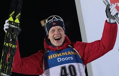 Норвежец Йоханнес Бё выиграл масс-старт на этапе Кубка мира по биатлону в Рупольдинге