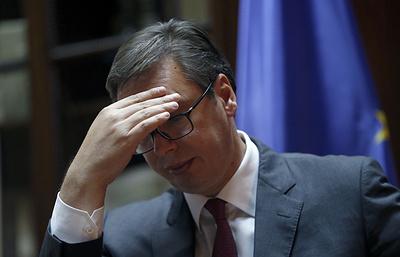 Вучич назвал терактом убийство сербского политика в Косове