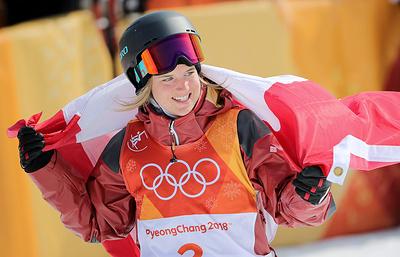 Канадская фристайлистка Кэсси Шарп завоевала золото Олимпиады в хафпайпе