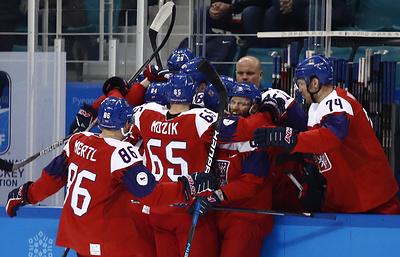 Сборная Чехии по хоккею вышла в полуфинал Олимпиады