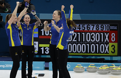 Шведские керлингистки в рекордный третий раз стали олимпийскими чемпионками