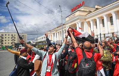 Более 300 египетских футбольных фанатов прибыли в Екатеринбург на поезде болельщиков