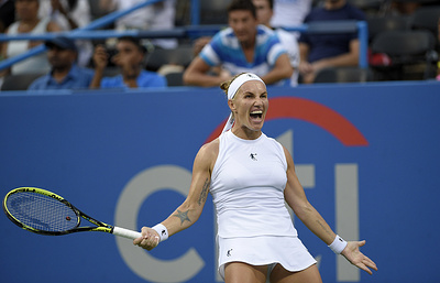Кузнецова заявила, что до конца верила в победу в финале теннисного турнира в Вашингтоне