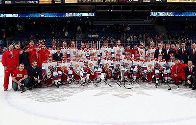 Хоккеисты сборной России выиграли первый этап Евротура, победив в двух матчах из трех