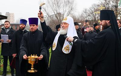Патриарх Кирилл освятил памятник князю Александру Невскому в Балтийске