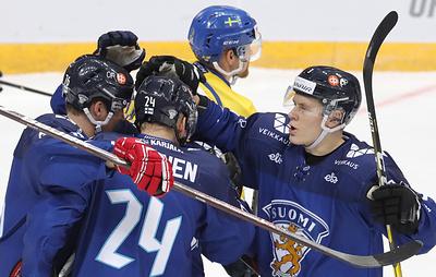 Сборная Финляндии победила шведов в матче Кубка Первого канала по хоккею