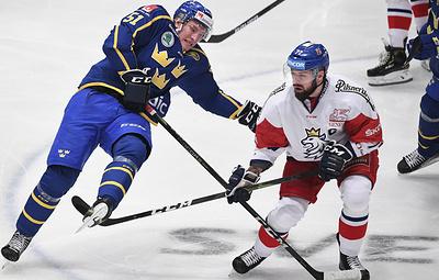 Хет-трик Коваржа помог сборной Чехии победить шведов в матче Еврохоккейтура