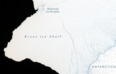 CNN: айсберг площадью в два Нью-Йорка может отколоться от ледника в Антарктиде