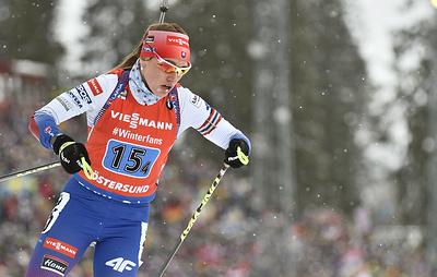 Биатлонистка Кузьмина выиграла гонку преследования на этапе КМ в Норвегии