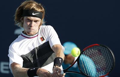 Российский теннисист Рублев вышел в третий раунд турнира в Майами