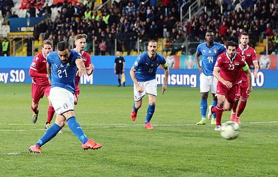 Дубль Квальяреллы помог сборной Италии разгромить команду Лихтенштейна в матче отбора ЧЕ