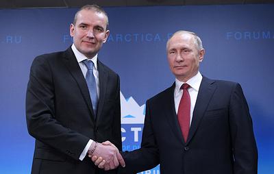 Владимир Путин проводит встречу с президентом Республики Исландия. Видеотрансляция