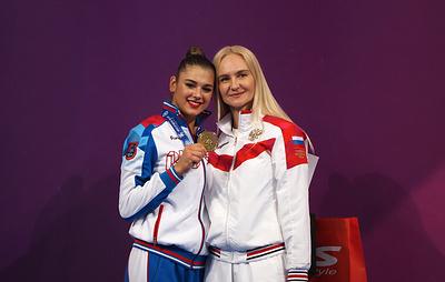 Солдатова победила в многоборье на этапе Кубка мира по художественной гимнастике в Софии