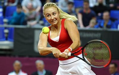 Сборная России по теннису вышла вперед в матче Кубка Федерации с итальянками