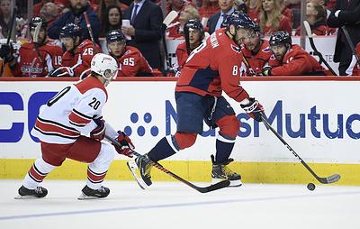 """""""Вашингтон"""" разгромил """"Каролину"""" в пятом матче серии плей-офф НХЛ. Овечкин набрал три очка"""