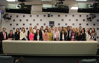 В Санкт-Петербургском РИЦ ТАСС прошла встреча журналистов зарубежных русскоязычных СМИ photo