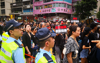 Правительственный комплекс в Гонконге остается закрытым из-за протестов