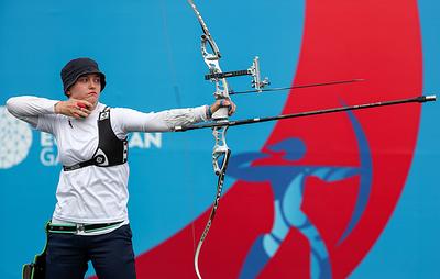 Итальянка Андреоли одержала победу в стрельбе из классического лука на Европейских играх