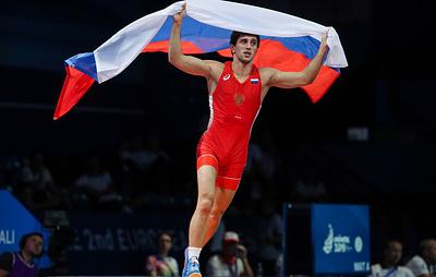 Российский борец-вольник Сидаков завоевал золото в весе до 74 кг на Европейских играх