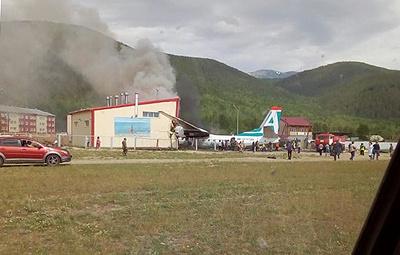 В Бурятии пассажирский Ан-24 совершил аварийную посадку