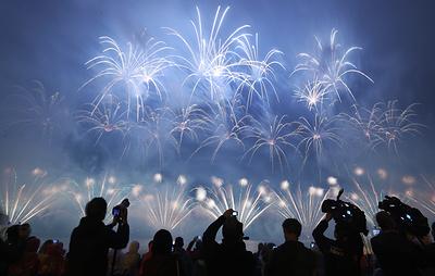 Команда из России стала победителем на фестивале фейерверков в Москве