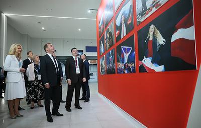 Медведев приехал на церемонию открытия чемпионата WorldSkills