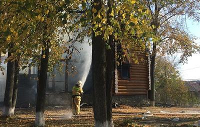 Пожар в церкви в Свердловской области потушен