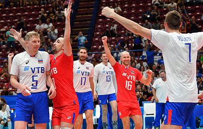 Российские волейболисты одержали четвертую победу подряд на чемпионате Европы