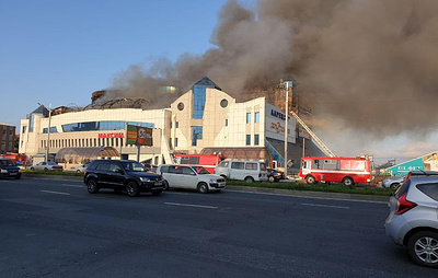 Торговый центр горит во Владивостоке на площади 1000 кв. метров
