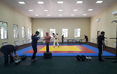 Спортивный зал открылся в Центре по противодействию экстремизму в КБР
