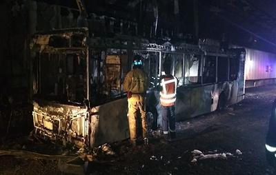 Автобус загорелся в Алабяно-Балтийском тоннеле в Москве