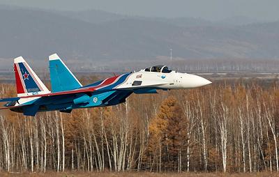 """Четыре новейших истребителя Су-35С поступили на вооружение """"Русских витязей"""""""