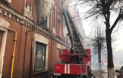 Историческое здание 19-го века загорелось в Твери