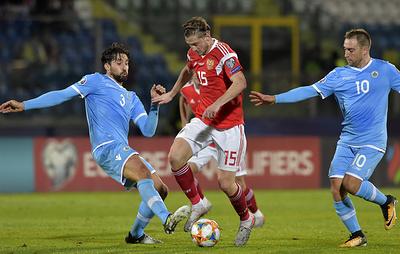 Сборная России разгромила команду Сан-Марино в заключительном матче отбора ЧЕ-2020