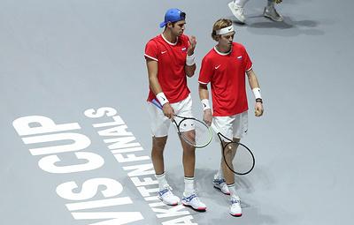 Российские теннисисты проиграли испанцам в матче Кубка Дэвиса
