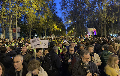 """Тысячи человек вышли на """"Марш за климат"""" в Мадриде"""